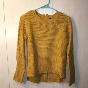 Forever 21 mustard yellow, zipper back sweater